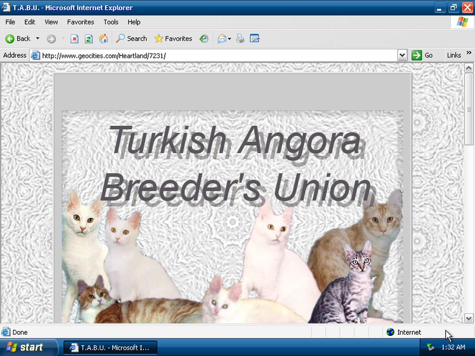geocities cats